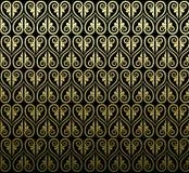 Thailändsk design för traditionell konst Thailändska Art Background, thailändsk konstpatte Arkivfoto