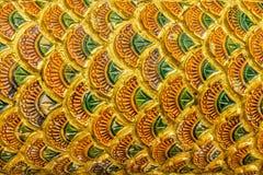 Thailändsk designmodell av våg för Naga (sagolik orm) Royaltyfria Bilder