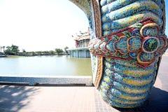 Thailändsk drake eller konung av Naga Arkivfoto