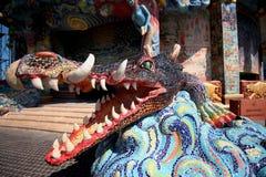 Thailändsk drake eller konung av Naga Arkivbilder