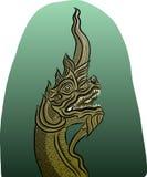 Thailändsk drakevektor Arkivfoton