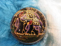 Thailändsk elefantask royaltyfria bilder