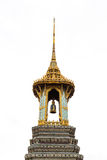 Thailändsk färgrik klockstapel royaltyfri fotografi