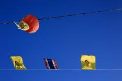 Thailändsk flagga Royaltyfria Bilder