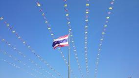 Thailändsk flagga, nationflagga, Tricolor flagga nr. 02 Royaltyfri Bild