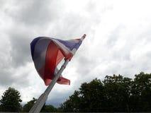 Thailändsk flagga och regn Fotografering för Bildbyråer
