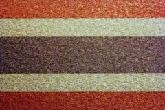 Thailändsk flagga på gammal pappers- textur Arkivfoton