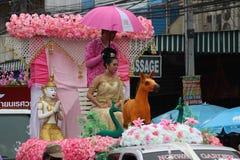 Thailändsk flicka med den nordliga stilklänningen Royaltyfria Foton