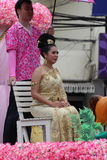 Thailändsk flicka med den nordliga stilklänningen Royaltyfri Fotografi