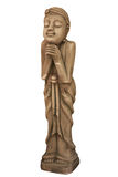 Thailändsk flickaskulptur för den Sawasdee välkomnandet av Thailand Arkivfoton
