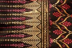 Thailändsk folk textil Arkivbilder