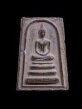 Thailändsk forntida buddha bild Arkivbilder