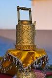 Thailändsk forntida mässingskokkärl. Royaltyfria Foton