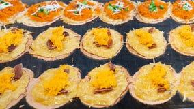 Thailändsk frasig pannkaka fotografering för bildbyråer