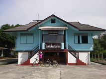 Thailändsk gammal polisstation Hadyai, Thailand Arkivfoton