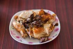 Thailändsk grillad höna, thailändsk mat, grillade fega Wichian Buri 3 Royaltyfri Bild
