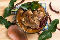 Thailändsk grisköttbensoppa Arkivfoton