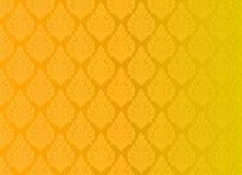 Thailändsk guld- bakgrund för abstrakt begrepp för tappningmodellvektor Arkivbilder