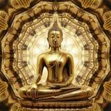 Thailändsk guld- Buddha Royaltyfri Foto