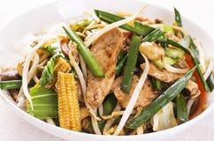 Thailändsk höna med grönsaker Royaltyfria Bilder