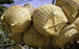 Thailändsk handgjord bambufiskbehållare Royaltyfria Foton