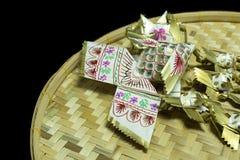 Thailändsk handgjord stilfiskmobil arkivbild