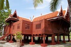 Thailändsk husstil i Chiangmai, Thailand Royaltyfria Foton