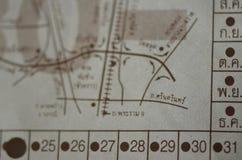 Thailändsk huvudvägbiljett Arkivbilder