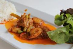 Thailändsk kokkonst Arkivfoto