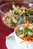 Thailändsk kokkonst Fotografering för Bildbyråer