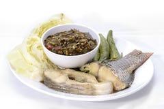 Thailändsk kokkonstnamprik eller chilideg Fotografering för Bildbyråer