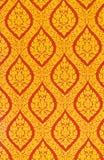 Thailändsk konst av väggen royaltyfri bild
