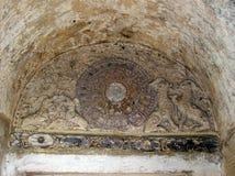 Thailändsk konst i den gamla templet av nordliga Thailand 13 Arkivbild