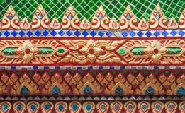 Thailändsk konst på kyrkan Arkivbilder