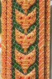 Thailändsk konst på kyrkan Royaltyfria Foton