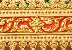 Thailändsk konst på kyrkan Arkivbild