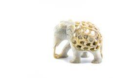 Thailändsk konst som snider elefanten Royaltyfri Bild