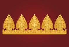 Thailändsk konstboardermodell stock illustrationer