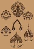 Thailändsk konstsymboluppsättning [EPS10] Arkivbilder