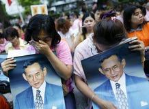 Thailändsk konung Death arkivfoton