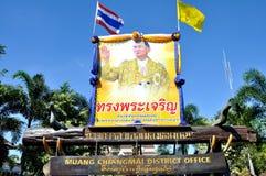 Thailändsk konungs 85. födelsedag Arkivbilder