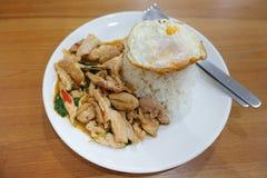 Thailändsk kryddig avfyrad höna Fotografering för Bildbyråer
