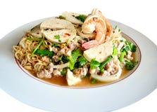Thailändsk kryddig havs- sallad Fotografering för Bildbyråer