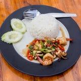 Thailändsk kryddig mat med havsmat Royaltyfri Bild
