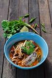 Thailändsk kryddig på burk sardinsallad Royaltyfri Foto