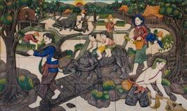 Thailändsk kulturskulptur arkivfoton