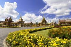 Thailändsk kunglig krematorium i Bangkok, Thailand arkivbilder