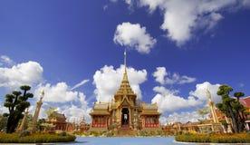 Thailändsk kunglig krematorium i Bangkok, Thailand arkivfoto