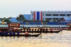 Thailändsk kunglig pråm i Bangkok Royaltyfria Foton