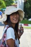 Thailändsk kvinnamodell för stående Arkivbild
